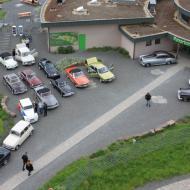 Blick auf den Parkplatz - aus Sicht vom Panarbora Aussichtsturm - OCRE - Saisoneröffnung 2019 (19.05.2019)