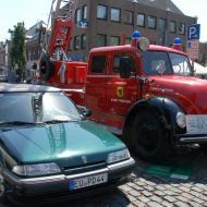 Magirus Deutz Feuerwehr-Leiterwagen mit luftgekühltem Dieselmotor - OCRE Oldtimertreffen 2019
