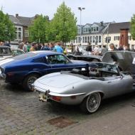 Jaguar E-Type Cabrio und Ford Mustang Fastback - Oldtimertreffen in Erftstadt Lechenich 2015