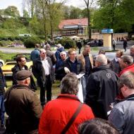 Besprechung beim Oldtimertreff im Neanderthal - ORCE Frühjahrsausfahrt 2016