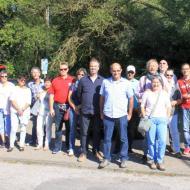 OCRE Herbstausfahrt 2016 : Gruppenfoto beim Archäologischen Landschaftspark Nettersheim - einige Teilnehmer kamen erst später zur Besichtigung